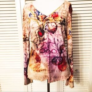 OneWorld | 🌺 Pullover Travel Patterned Blouse